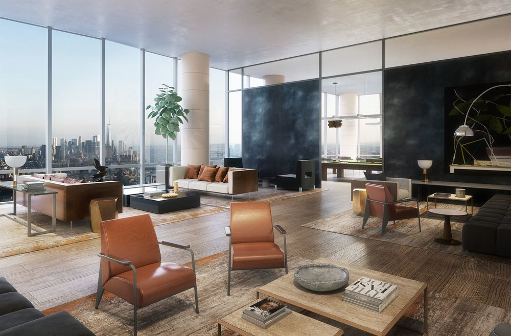 Lounge Preview the Over-The-Top Amenities Coming to 15 Hudson Yards Related Companies Oxford Properties Rockwell Group Diller Scofidio + Renfro