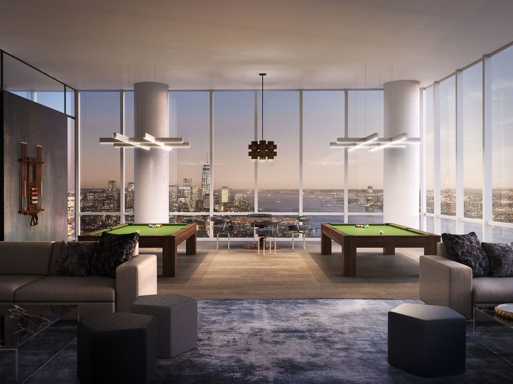 Billiards Lounge Preview the Over-The-Top Amenities Coming to 15 Hudson Yards Related Companies Oxford Properties Rockwell Group Diller Scofidio + Renfro
