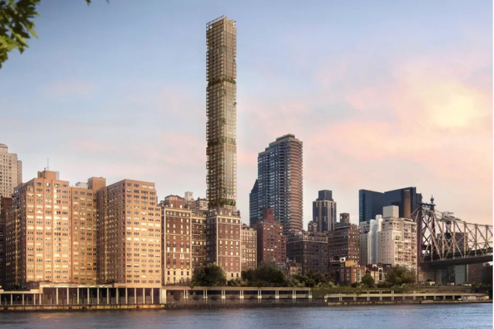 The Former Rendering of 3 Sutton Place by Foster + Partners