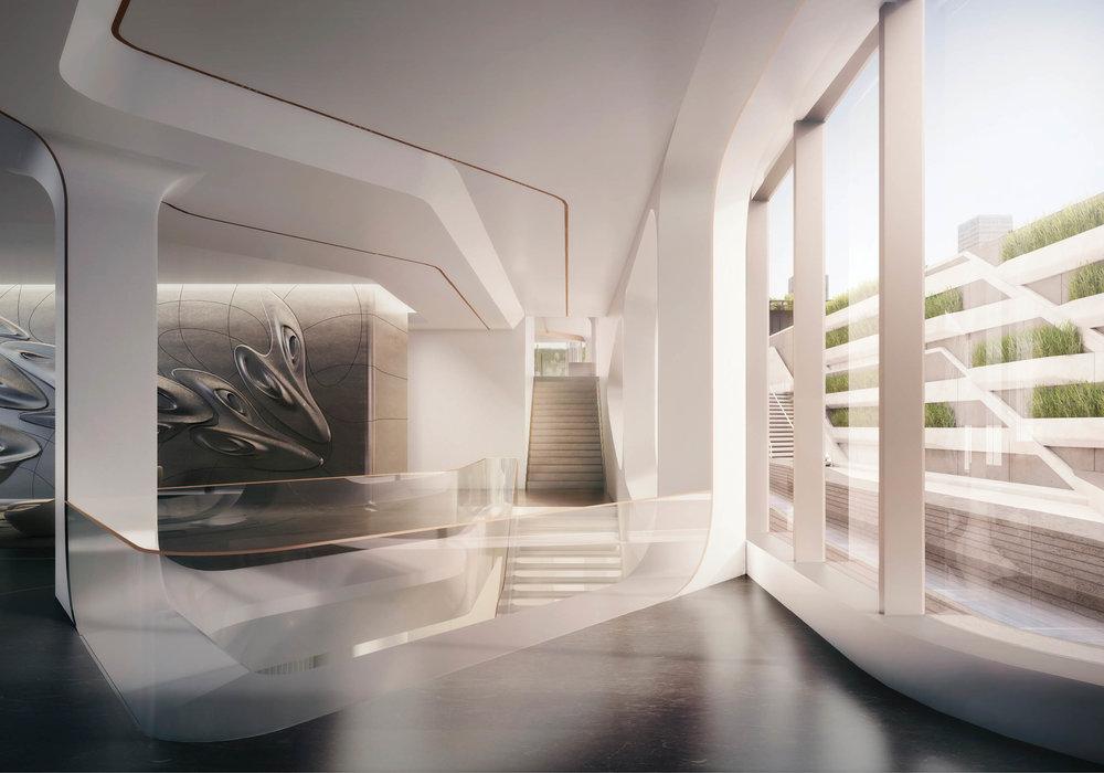 Inside Zaha Hadid's Futuristic, High Line Hugging 520 West 28th Street
