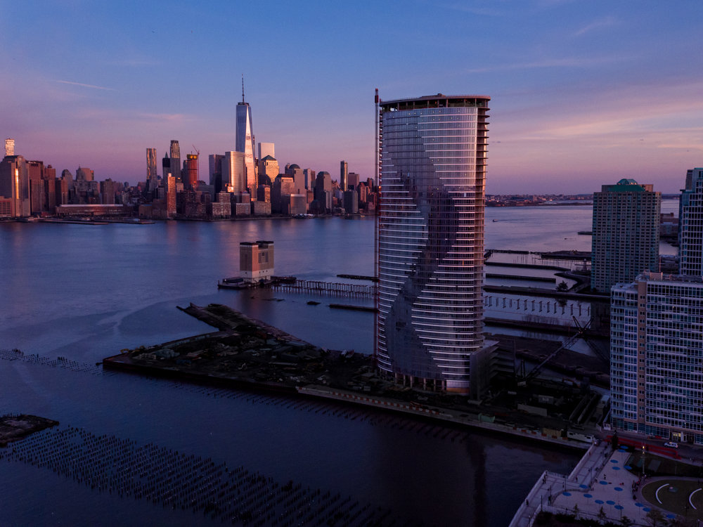 New Drone Photos Unveiled of the Arquitectonica Designed Ellipse in Jersey City