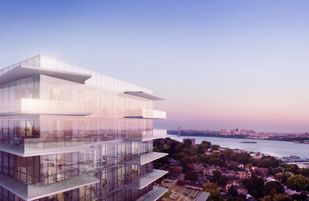 Construction Update: One Park Designed by Architectura Tops Off in Cliffside Park, New Jersey