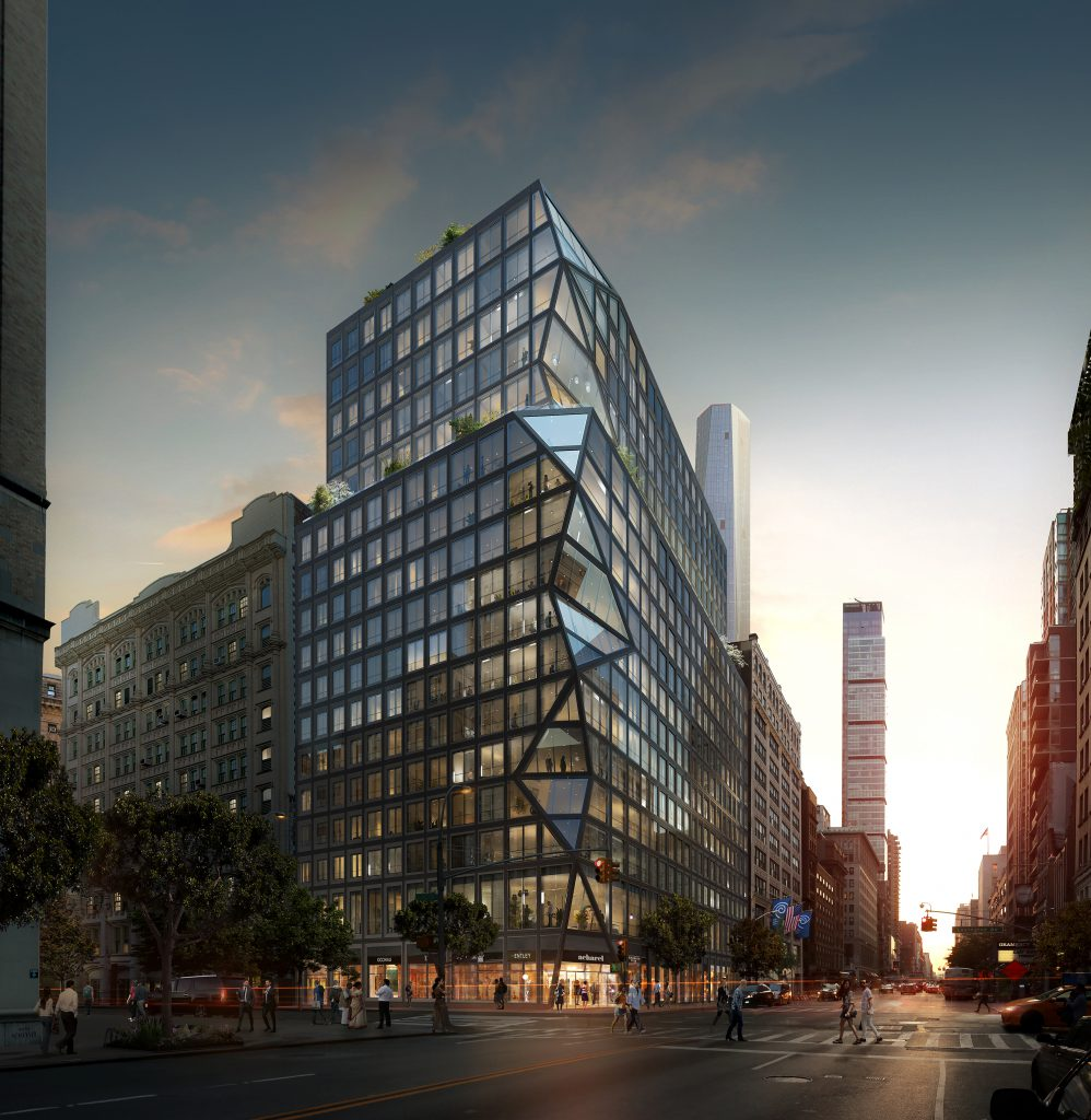 Construction Update: The OMA-Designed 121 East 22nd In Gramercy Puts Finishing Touches on Geometric Façade