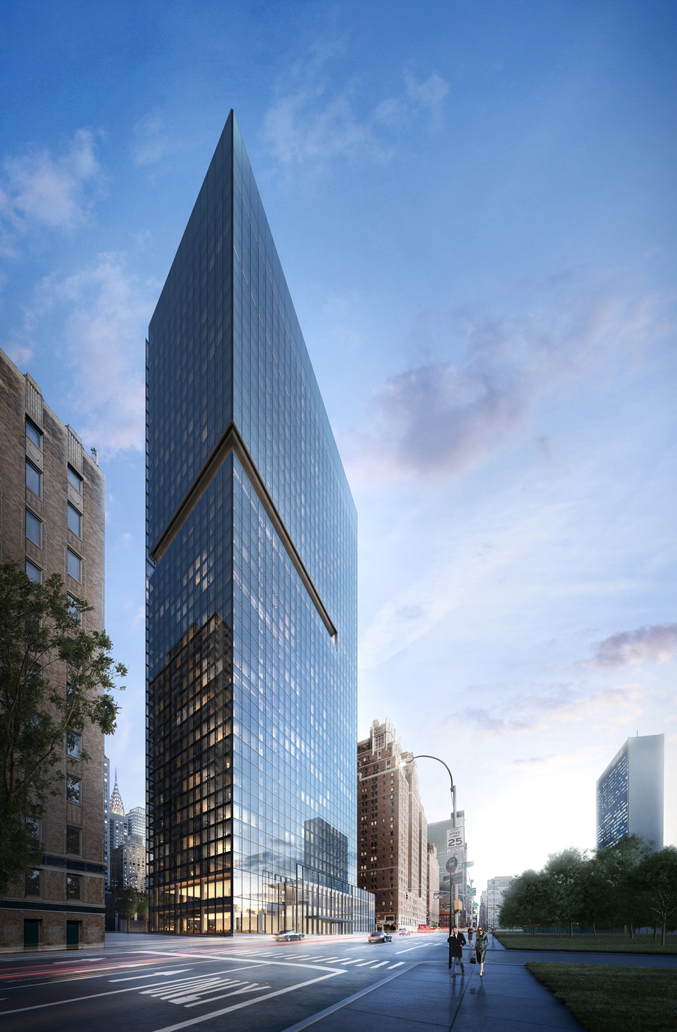 The Richard Meier-Designed 685 First Avenue Tops-Off On The East River