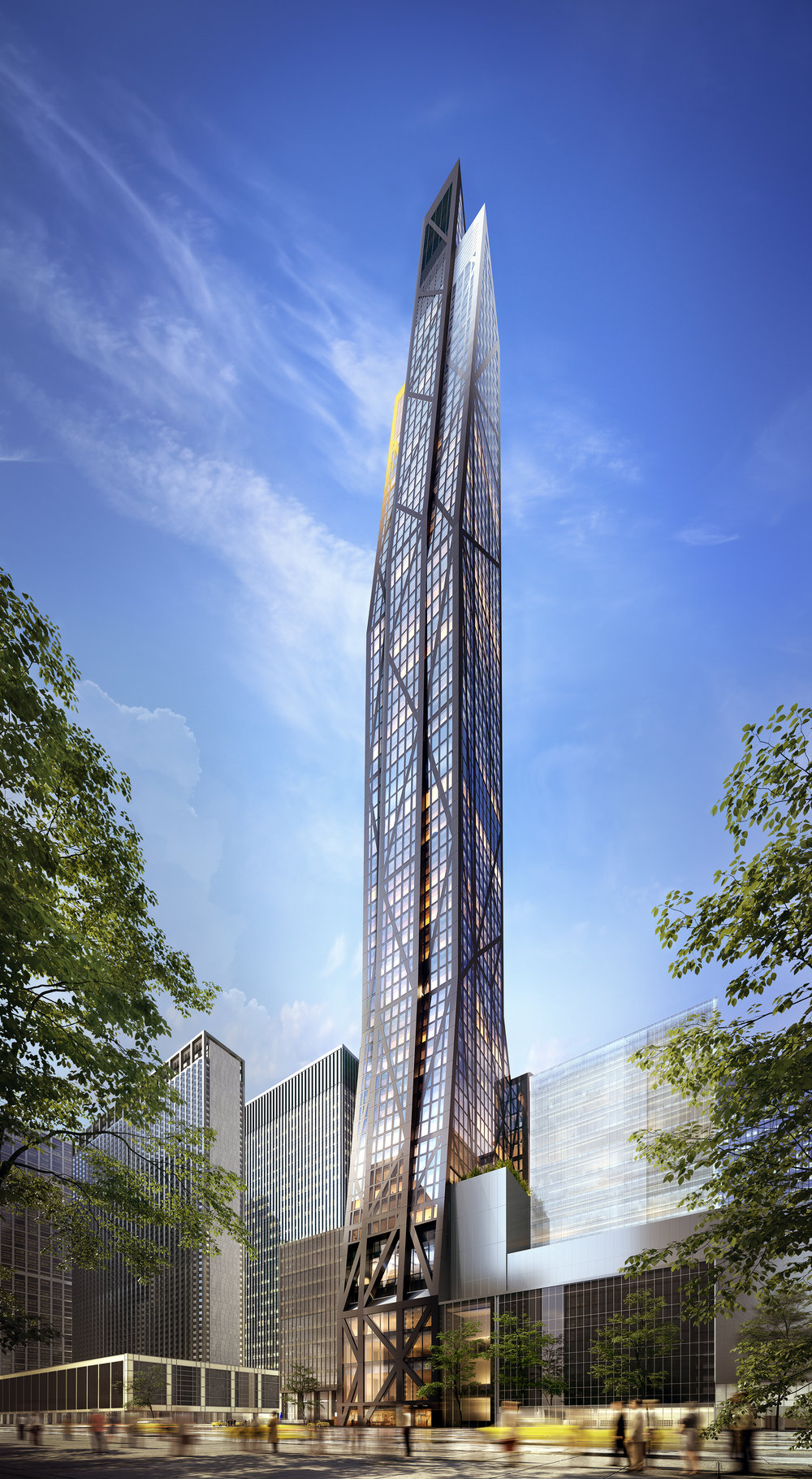 53W53 - Rendering by VUW Studio Construction Update: Check-Out An Exclusive Behind-The-Scenes Look at Construction as 53W53 Reaches the 58th Floor