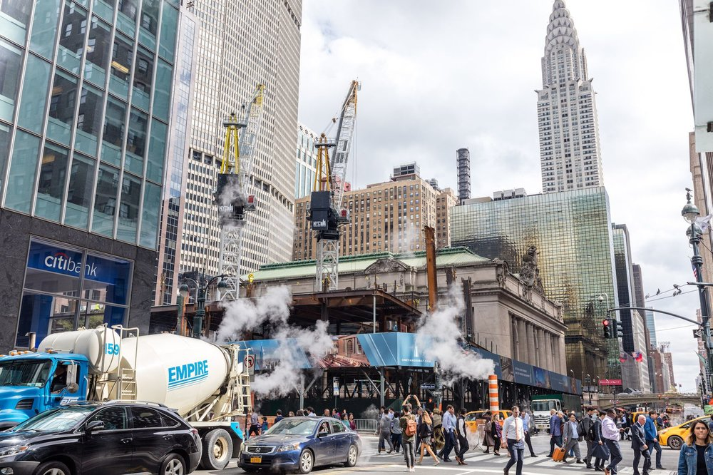 Construction Update: Behind-The-Scenes at SL Green's, Grand Central Station Hugging Supertall One Vanderbilt