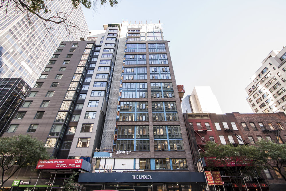 The Lindley Reveals Its Facade And Unveils Its On-Site Sales Center in Murray Hill