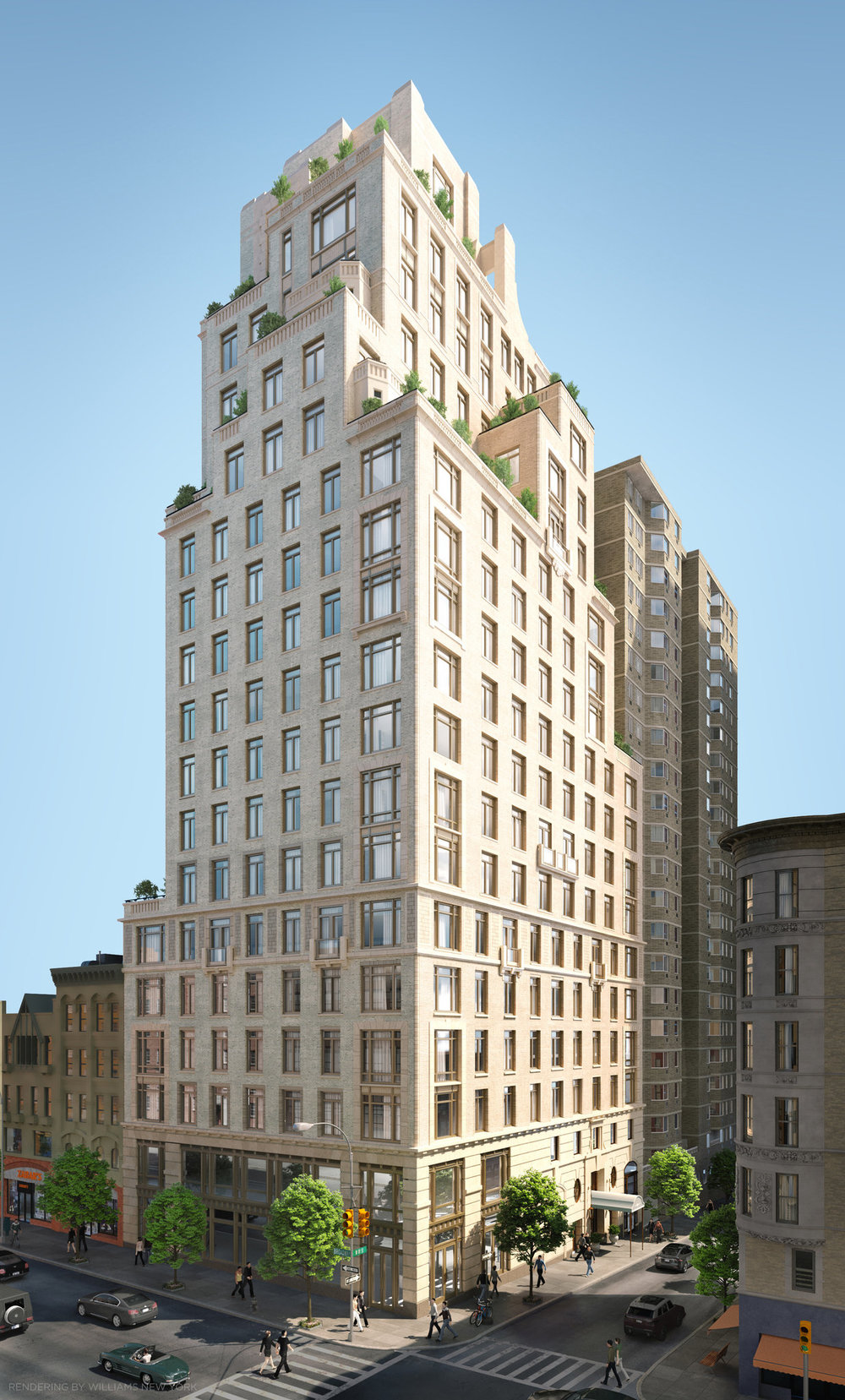 The Robert A.M. Stern-Designed 250 West 81st Street Reveals First Full Rendering As Construction Approaches Halfway Mark