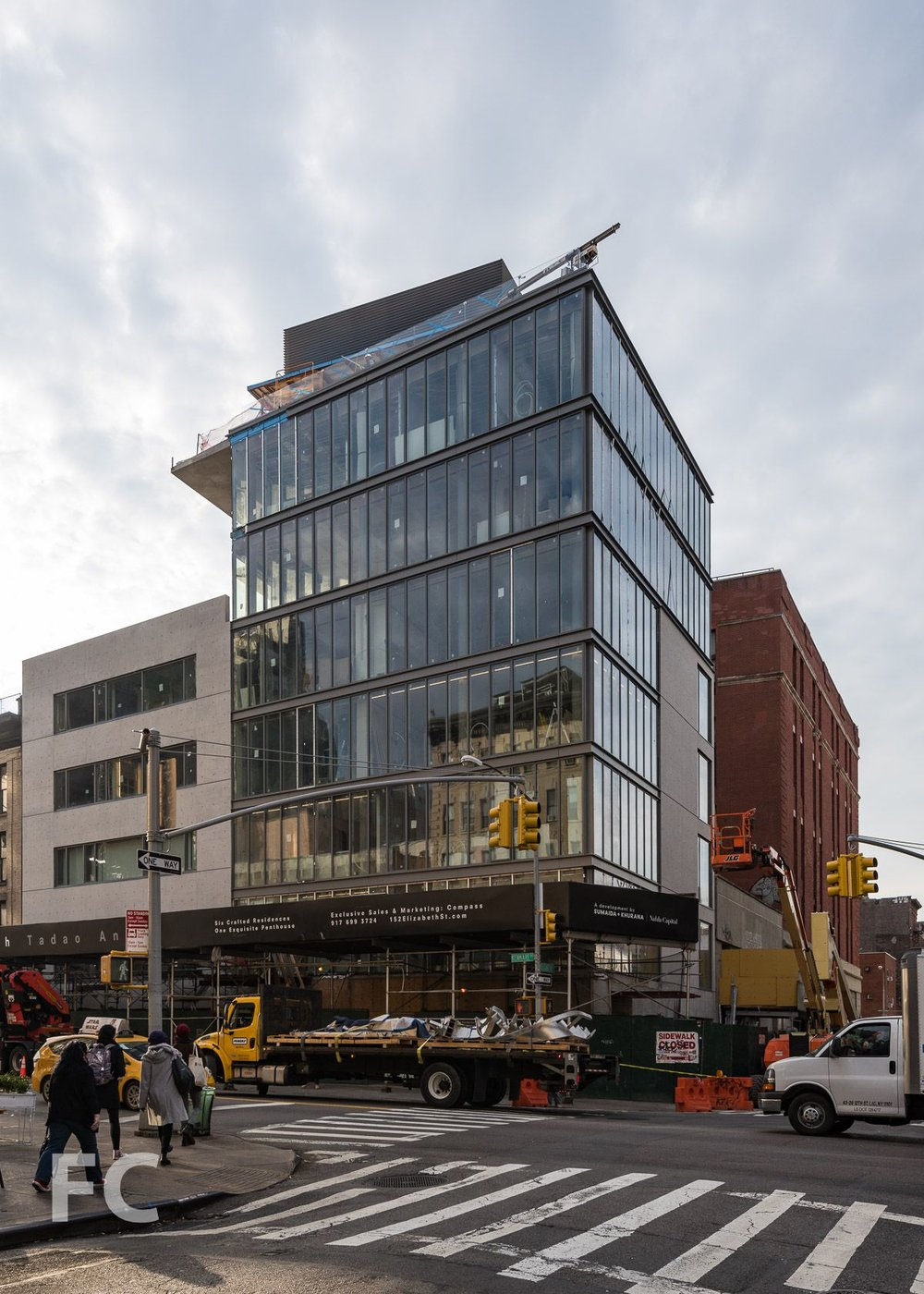 Construction Update: Tadao Ando's Luxurious 152 Elizabeth Street Reveals Its façade As Scaffolding Comes Down