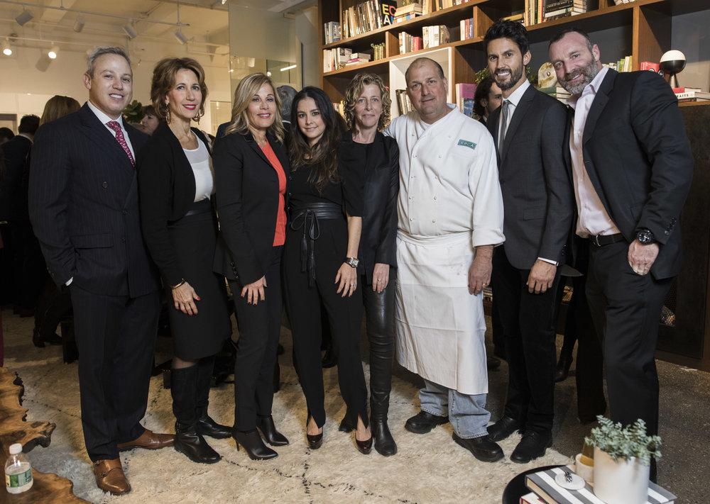 Michael Lorber, Carolyn Sebba, Karen Mansour, Maria Velazquez, Patty LaRocco, Chef Dave Pasternack, Jared LeFrenais, and Kurt Bauccio