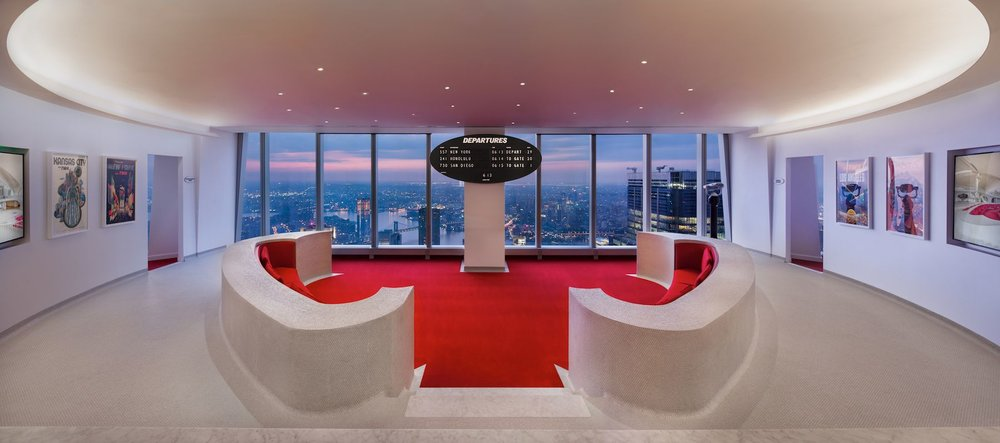 The TWA Lounge at One World Trade Center