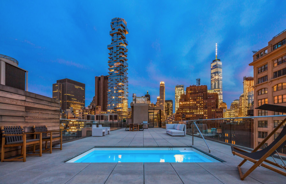Featured Listing: Kick Back In This Ultra-Luxe TriBeCa Penthouse Complete With A Rooftop Pool