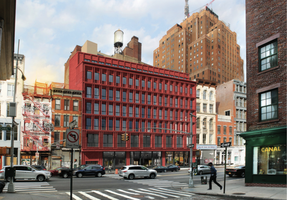 """Less Bland"" Redesign For 312-322 Canal Street in TriBeCa Submitted To Landmarks Preservation Commission"