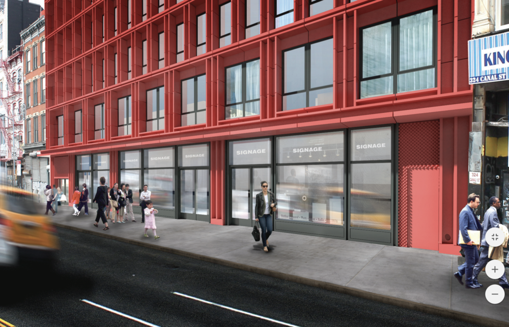 """""""Less Bland"""" Redesign For 312-322 Canal Street in TriBeCa Submitted To Landmarks Preservation Commission"""