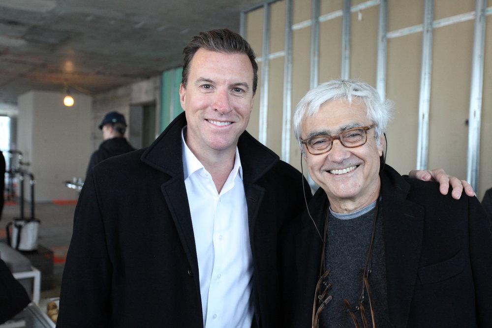 Jim Linsley and Rafael Viñoly