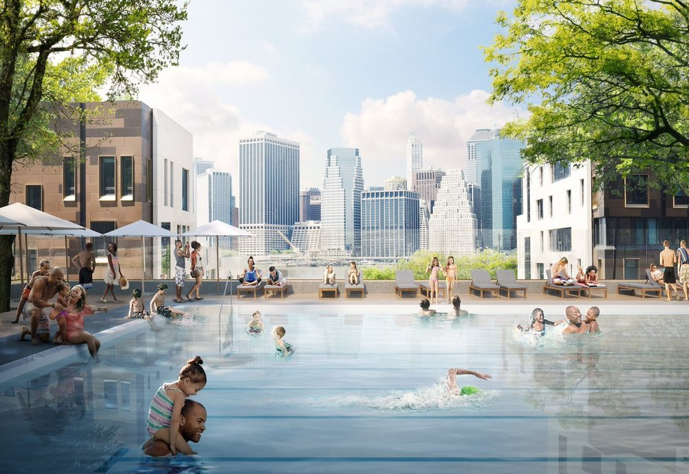 Brooklyn Bridge Park Announces Plans To Build Permanent Public Pool At Squibb Park Above Pier 1