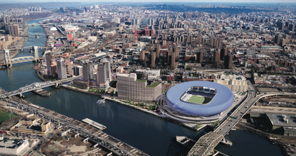 Check Out The Newly Unveiled Rafael Viñoly-Designed Harlem River Yards Mega-Project & Soccer Stadium