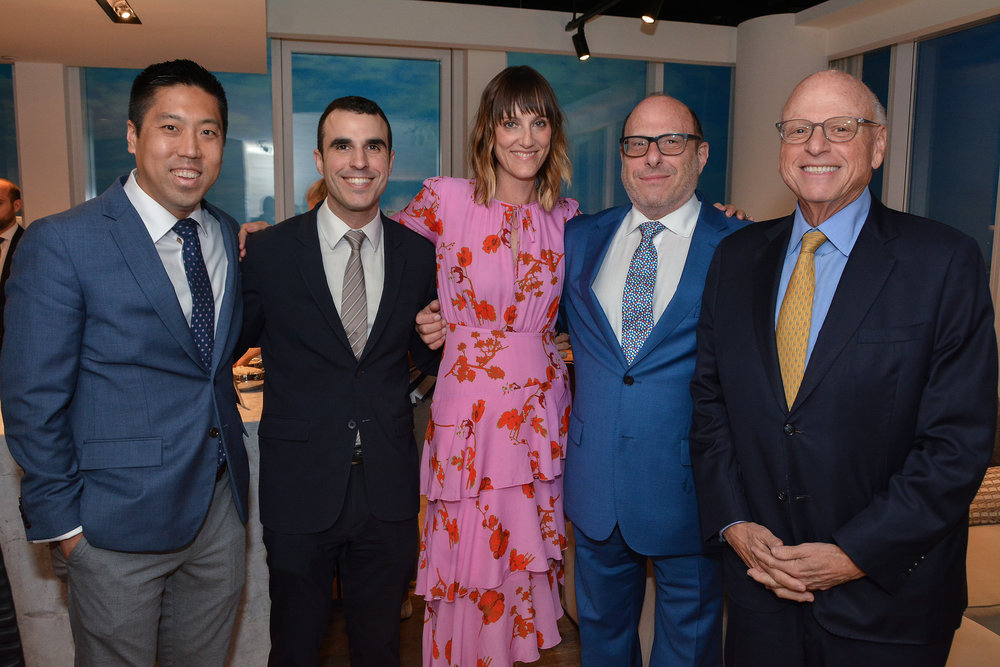 Andy Yeh, Christopher Morales, Molly Townsend, Bruce Ehrmann and Howard Lorber of Douglas Elliman