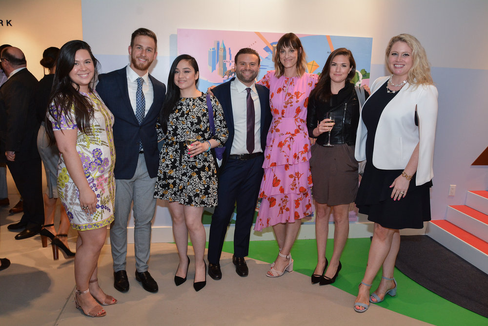 Caitlin Chagan, Thomas Fialo, Lydia Rodriguez, Molly Townsend, Zach Mansour, Assistant Director of Sales at Quay Tower, Kate Damatos, Jane Bixler from Douglas Elliman