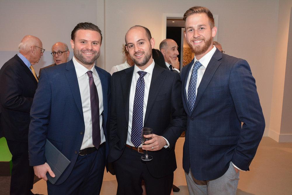 Zach Mansour of Douglas Elliman, Joshua Wein, Financial Director at RAL Companies, Thomas Fialo of Douglas Elliman