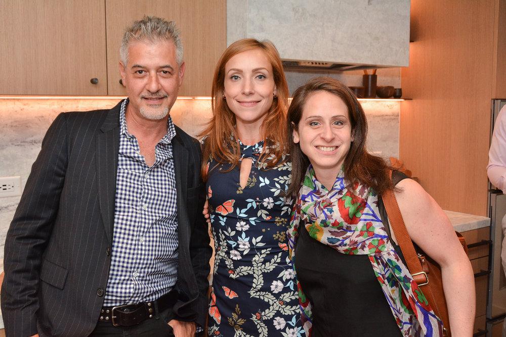 Lior Barak from Compass, Sarah Burke, Managing Director, Brooklyn New Development at Douglas Elliman, Cory Kantin from Corcoran