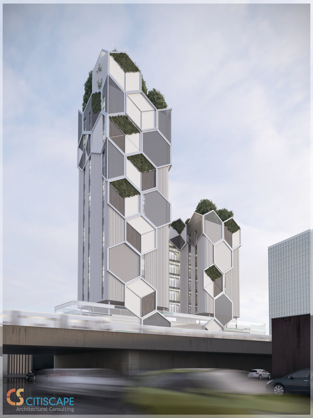 Radical Citiscape Consulting-Designed Renderings Revealed 1508 Avenue Z With Co2 Cleaning Curtain Wall