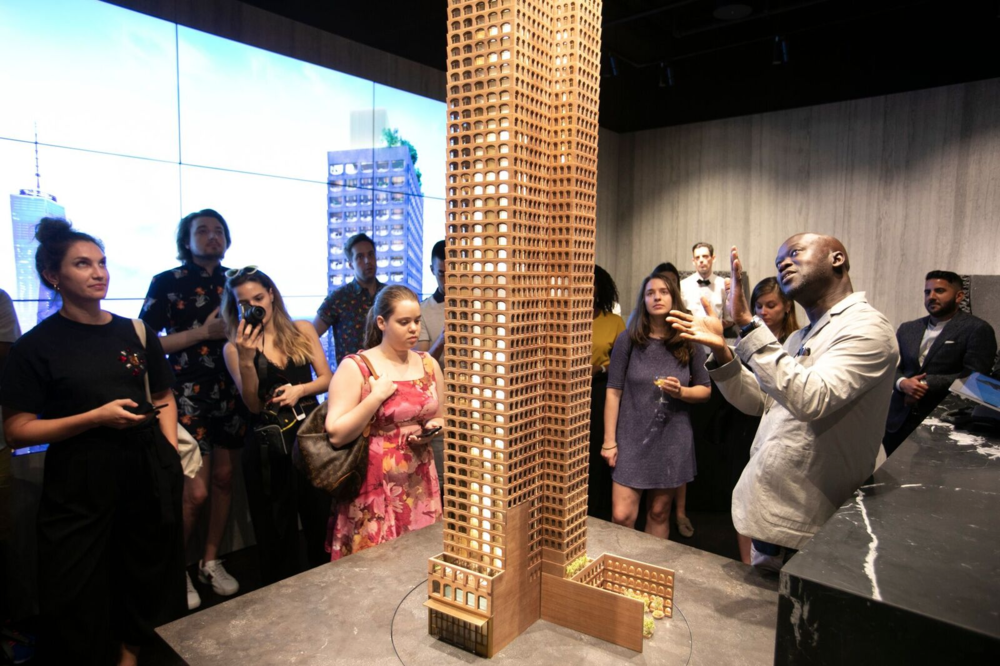 Inside Sir David Adjaye's Exclusive Preview Of The Sales Gallery At The Luxe 130 William