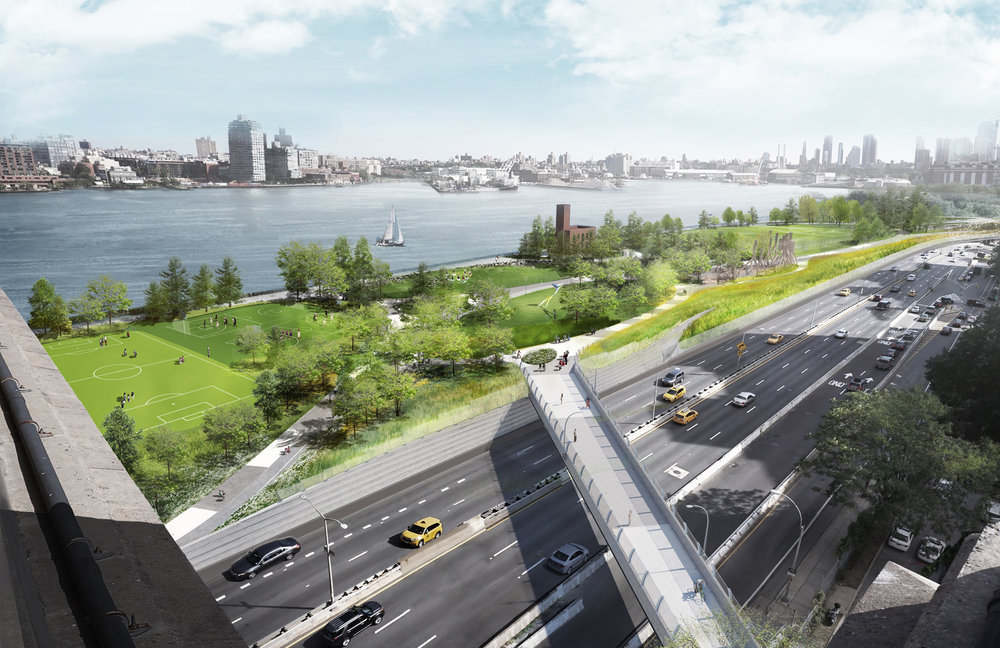 Phase 1 Of The Bjarke Ingels-Designed BIG U Now Underway, Transforming LES' East River Park