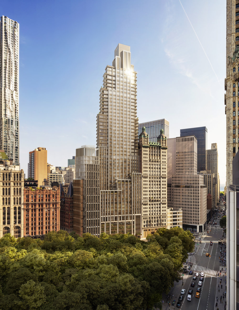 Get A First Look At The Newly Unveiled Renderings Of 25 Park Row On The Former J&R Music World Site