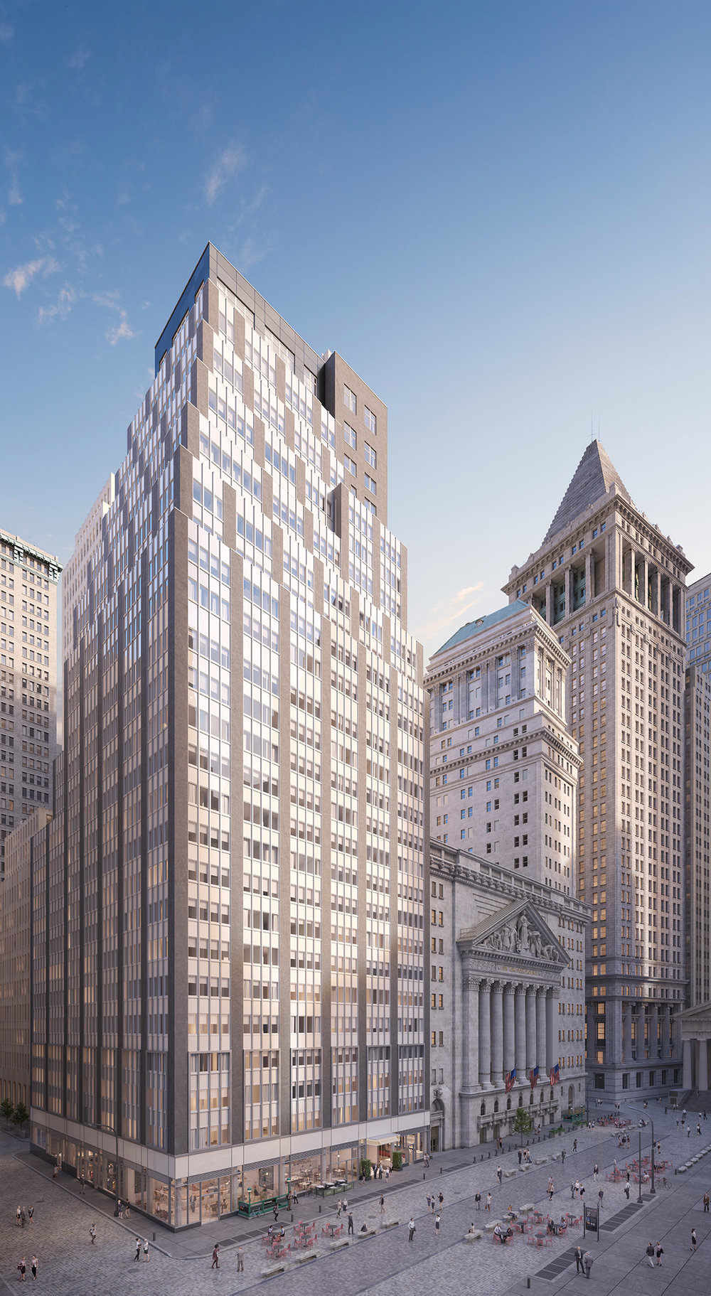 CetraRuddy Architecture-Designed 20 Broad Street Launches Leasing In FiDi