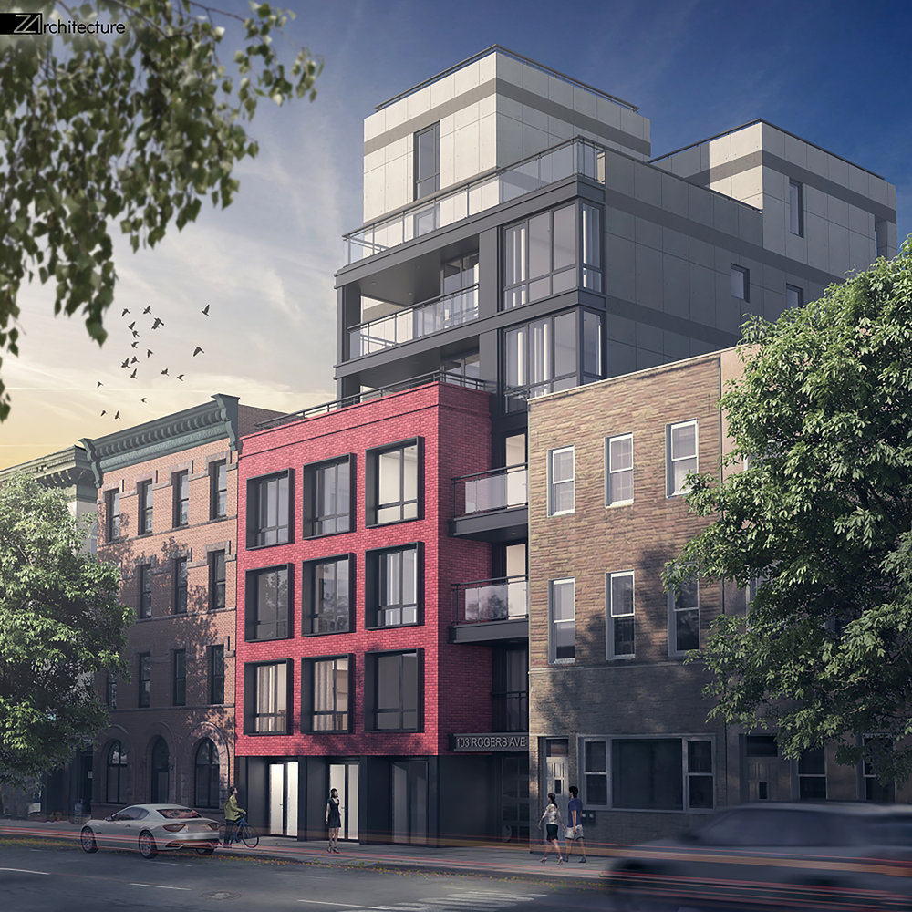 Permits Filed For Z Architecture-Designed 105 Rogers Avenue In Crown Heights, Brooklyn