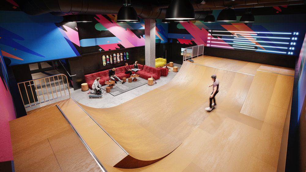 Waterline Square Reveals New York City's First Indoor Skate Park In A Residential Development As A Unique Amenity To Residents