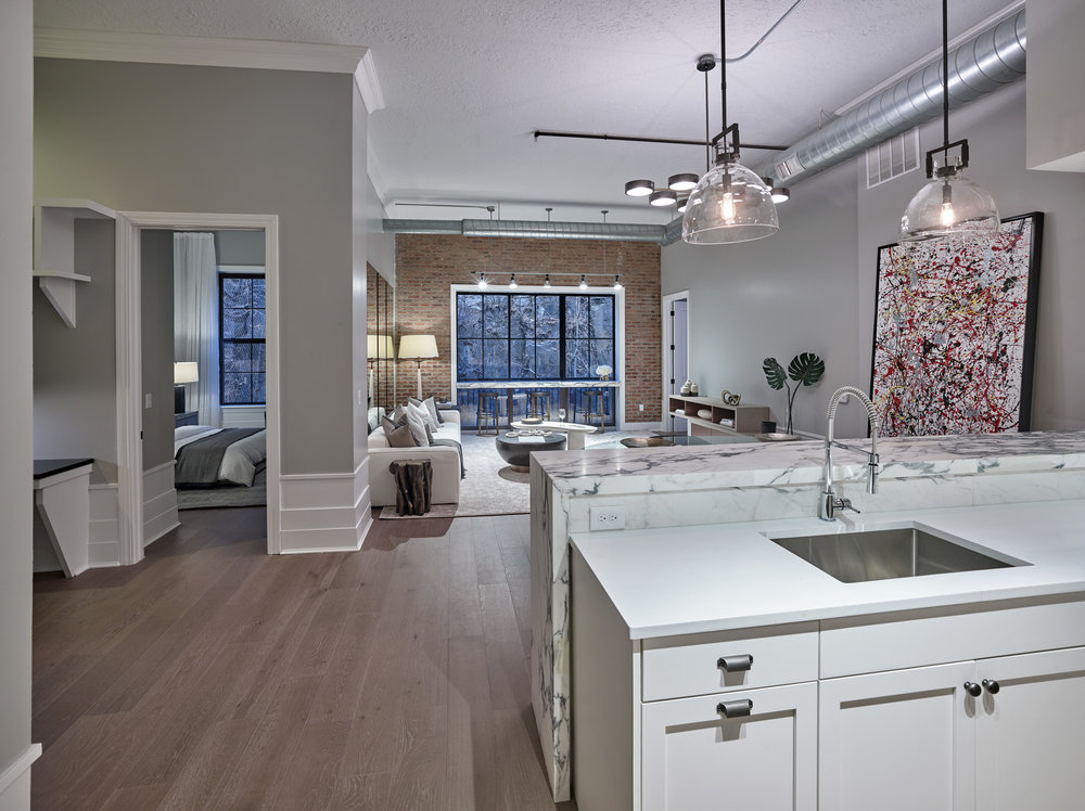 The Cliffs Interior Wide View Manhattan Building Company Launches Sales At The Cliffs Collection On Jersey City's Hoboken Border