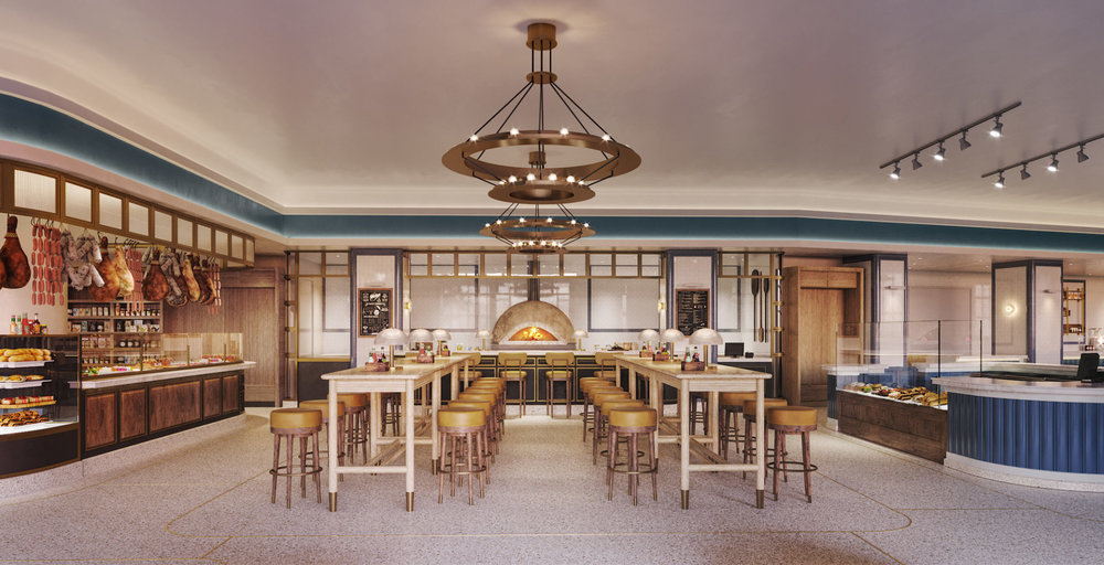 Take A First Look Inside The World's First Cipriani Food Market Designed By Martin Brudnizki At Waterline Square