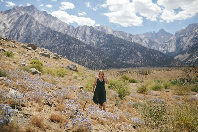 Amber and Mount Whitney, California #mtwhitney #alabamahills