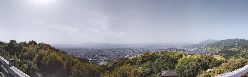 temple with a view - Beautiful panoramic scenes from Seiryuden