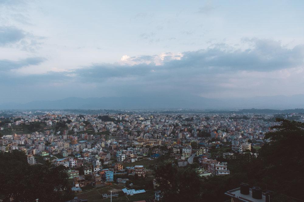 Overlooking Kathmandu -