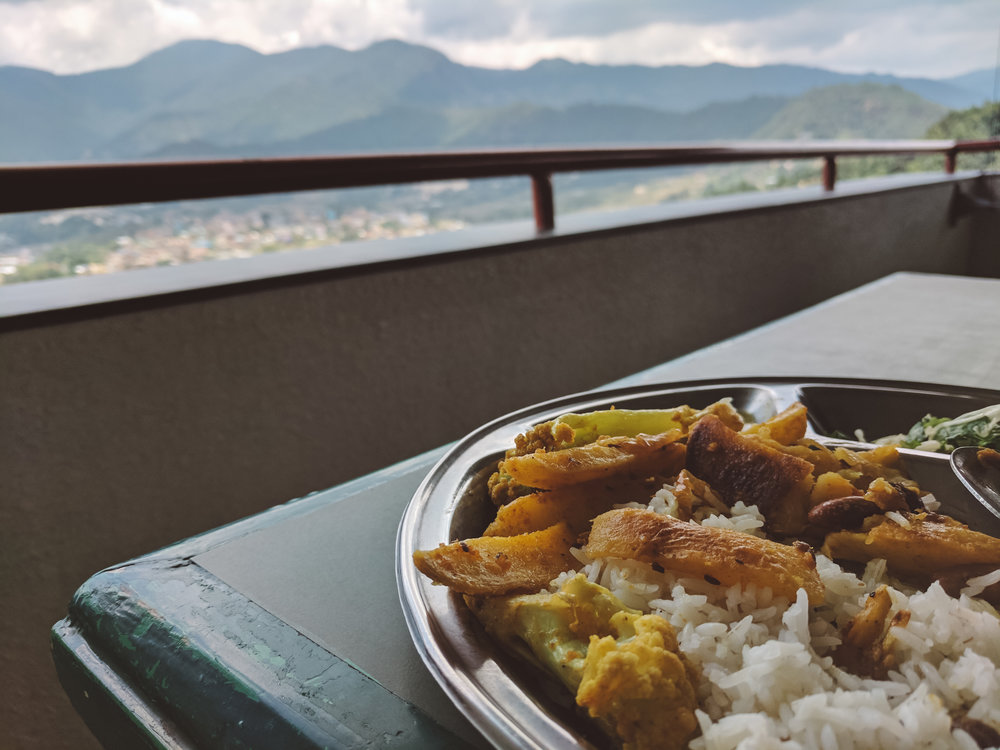 Potatoes with a view -