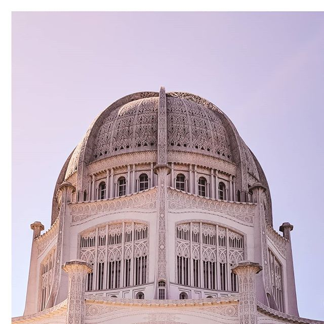 "😍 this mesmerizing dome of the Baha'i House of Worship. ** On the design of the Baha'i House of worship, Louis Bourgeois said, ""there are combinations of mathematical lines, symbolizing those of the universe, and in their intricate merging of circle into circle, and circle within circle, we visualize the merging of all religions into one."" ** #thatskytho #traveldeeper #motivationmonday #motivationalquotes #bahai #worldreligions #travelblogger"
