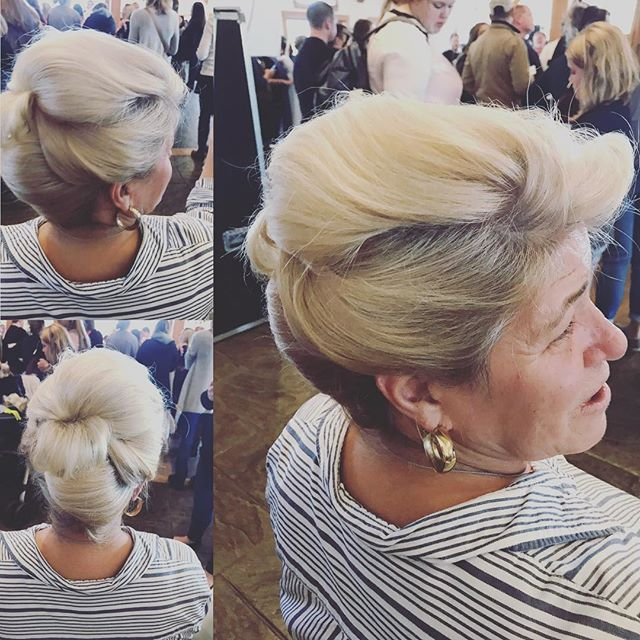 Mother of the bride, classic up-do