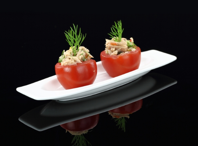 Tuna-stuffed Cherry Tomatoes