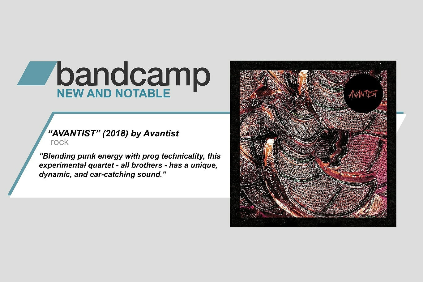 Avantist got featured on bandcamp's