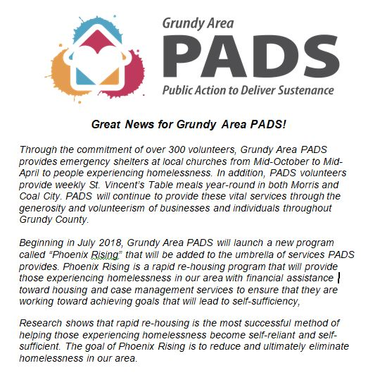 Grundy Area PADS Press Release.JPG