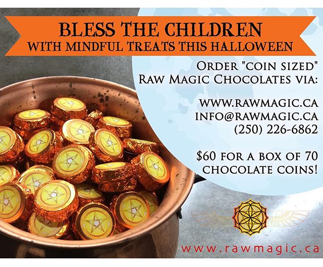 Get prepared for this Halloween with healthy and awesome chocolate treats from Raw Magic Chocolate!