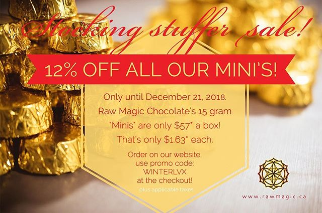 Limited time chocolate mini sale on our website! Check out this stocking stuffer sale to treat your loved ones to healthy and wholesome treats ❤️ #sale #raw #chocolate #organic #holiday #honey #stockingstuffers #healthyfood #healthychocolate