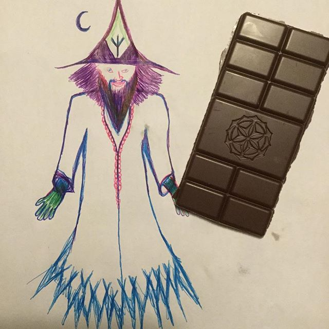 The wizard of possibilities eats chocolate bars the size of his body, be like the wizard, do the thing !!! #motivationalquotes #chocolate #cacao #rawcacao #rawr #notatypo #eatit #wizard #chocolatewizard #2019