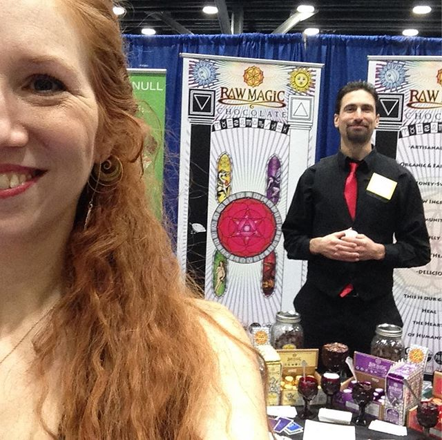 Raw magic rocking out at the wellness expo in Vancouver BC! #healthyfood #wellness #wellnessshowvancouver #raw #chocolate #honeysweetened
