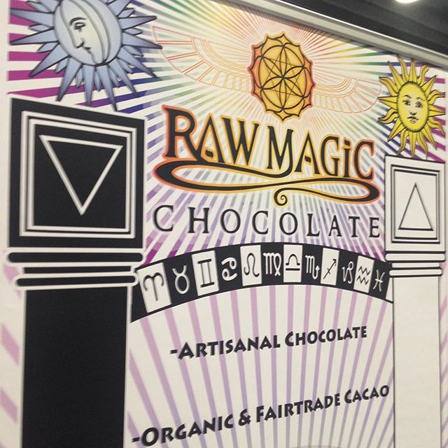 More magic from the chocolate booth 😉✨ #wellnessshowvancouver #raw #honey #chocolate #magic