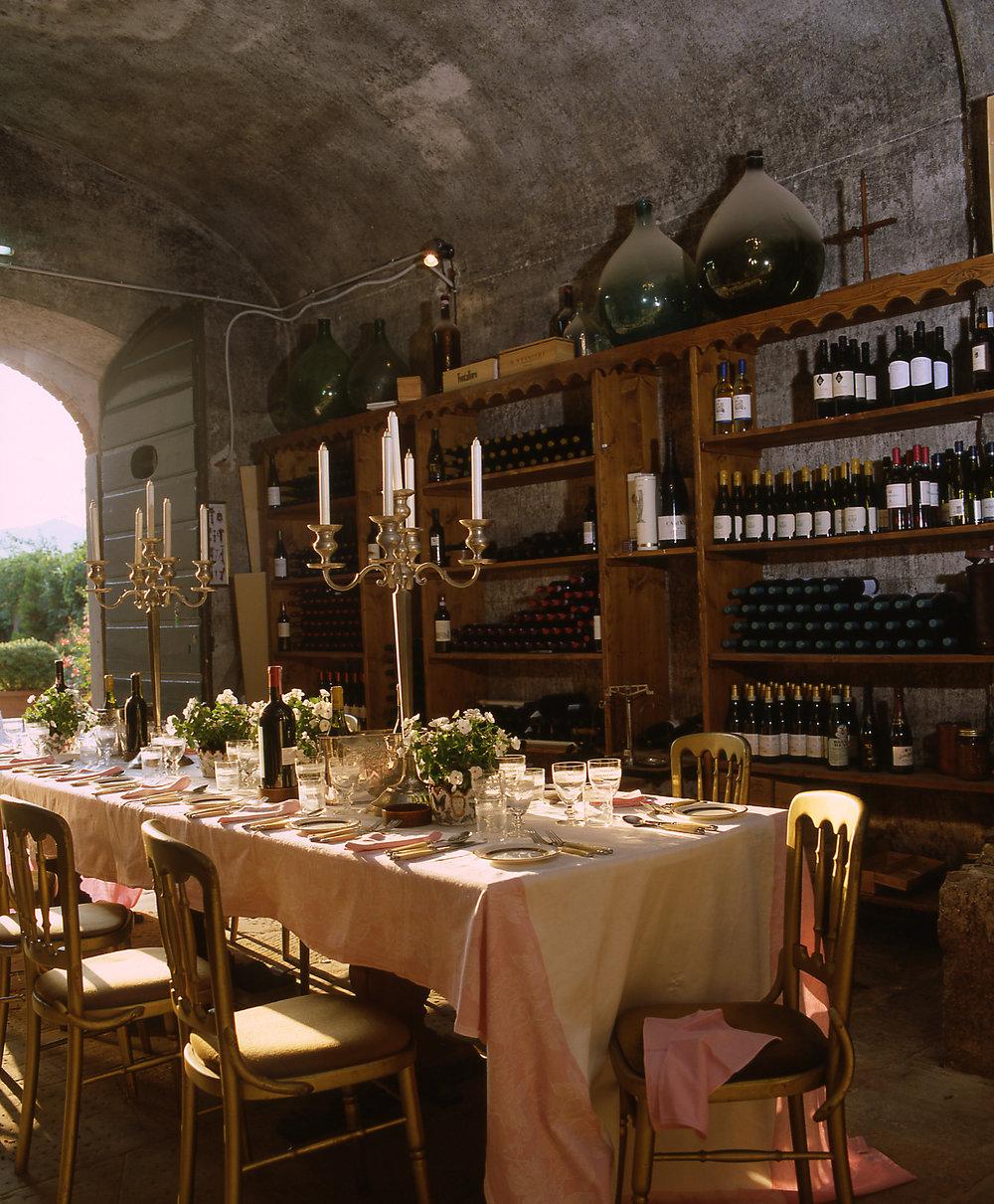 Dining room at Yoga retreat, Italy