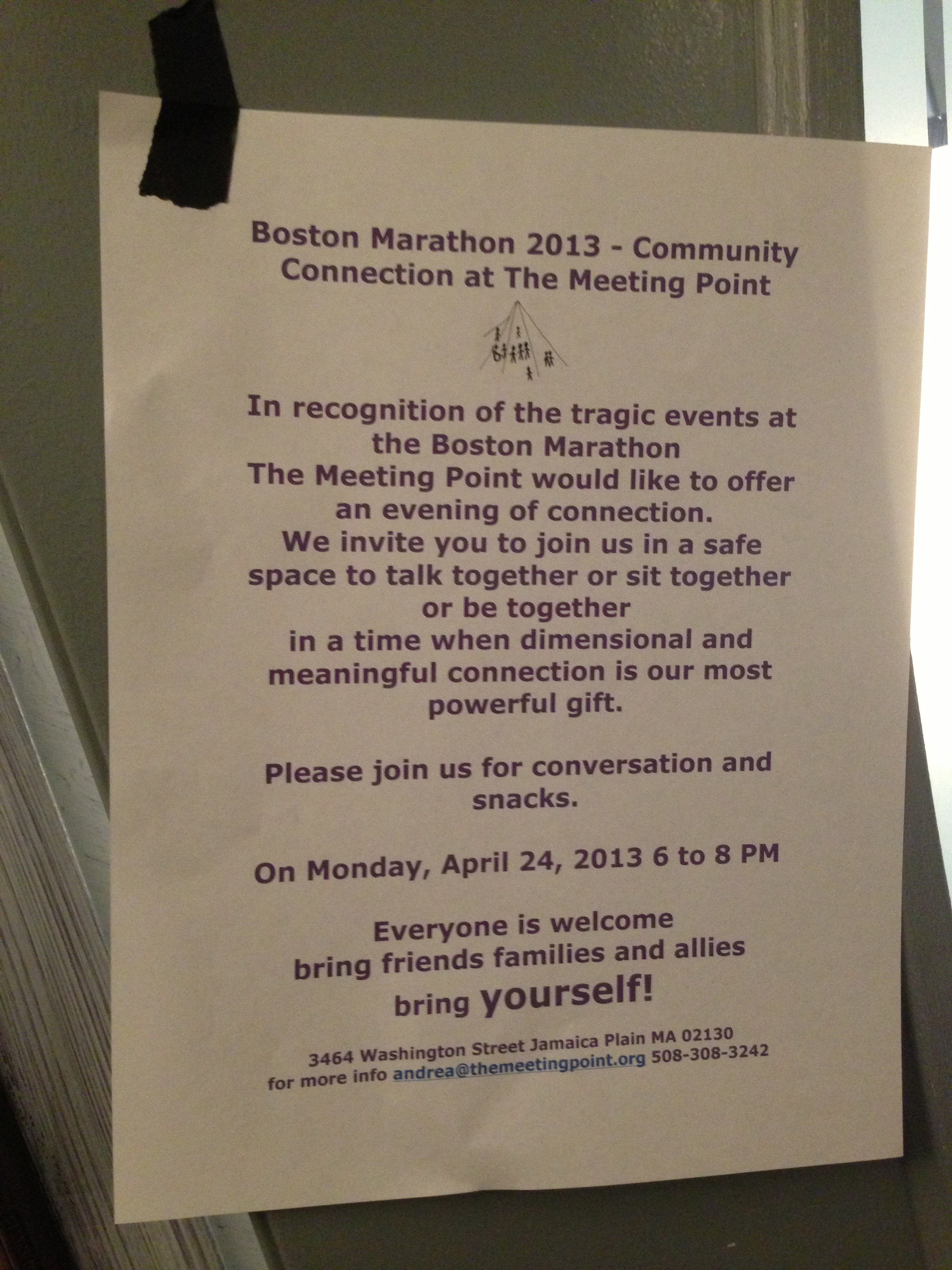 Marathon tragedy